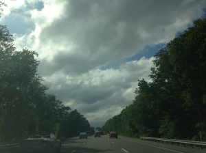 """Clouds.""  On the way home from Ocean City, NJ"