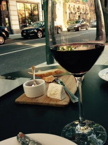After theater wine and cheese.