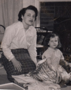 My mom and me. I'm about 3 years old.