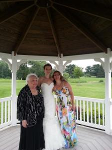 With my daughter ( the bride) and my mom