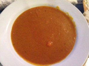 Yellow Split Pea-Pumpkin Soup