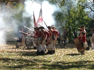 Smoke and illusions-- British soldiers at Red Bank Battlefield