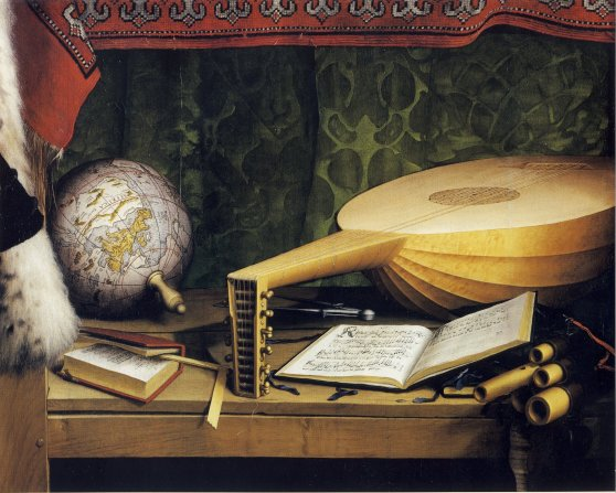 The_Ambassadors,_detail_of_globe,_lute,_and_books,_by_Hans_Holbein_the_Younger