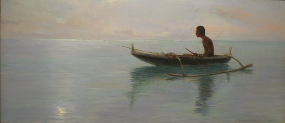 'Canoe_Fisherman'_by_D._Howard_Hitchcock,_1911