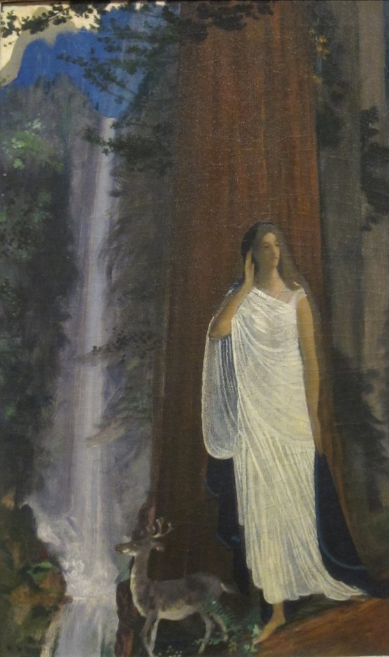 'Silence,_Waterfall_and_Forest'_by_Arthur_Bowen_Davies,_Dayton_Art_Institute