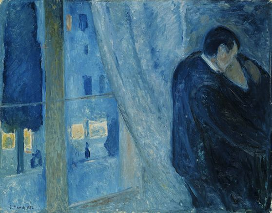 611px-Edvard_Munch_-_Kiss_by_the_window_(1892)
