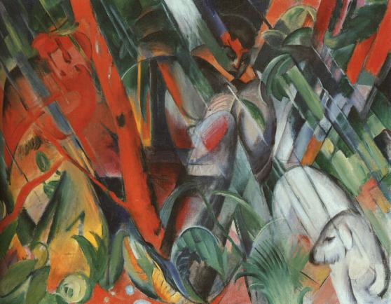 Franz_Marc-In_the_Rain(Im_Regen)_(1912)
