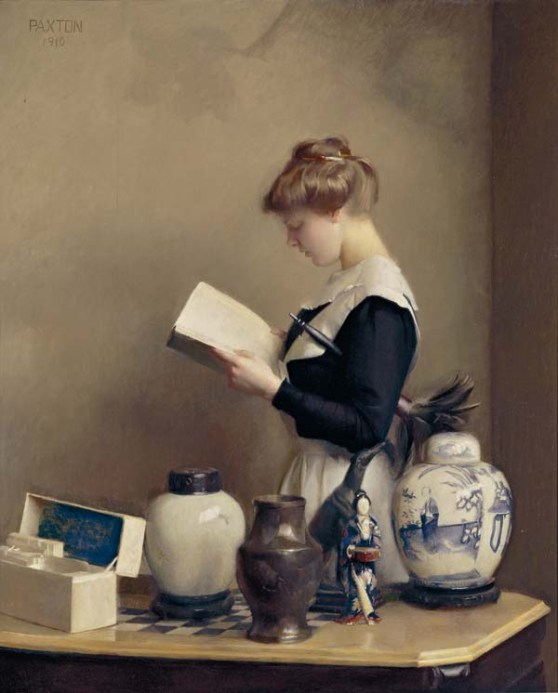 William_McGregor_Paxton,_1910_-_The_house_maid