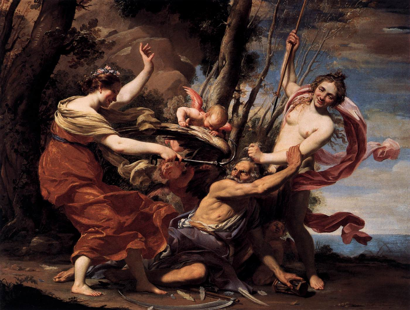 vouet_simon_-_father_time_overcome_by_love_hope_and_beauty_-_1627