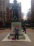 Striking a pose with Robert Morris