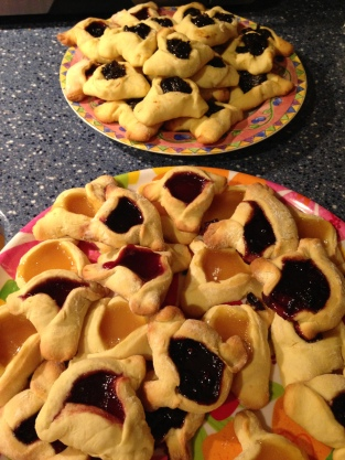 Lemon, Prune, and Berry Hamantaschen
