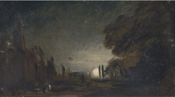 """Rising Moon,"" John Constable, c. 1810"