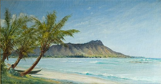 512px-'Waikiki_Beach_in_Sunlight'_by_D._Howard_Hitchcock,_1896