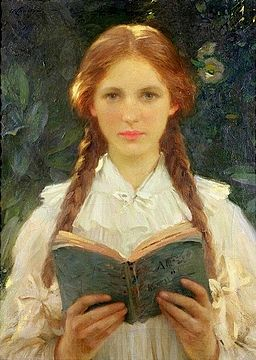 Girl_with_Pigtails_-_Samuel_Henry_William_Llewellyn