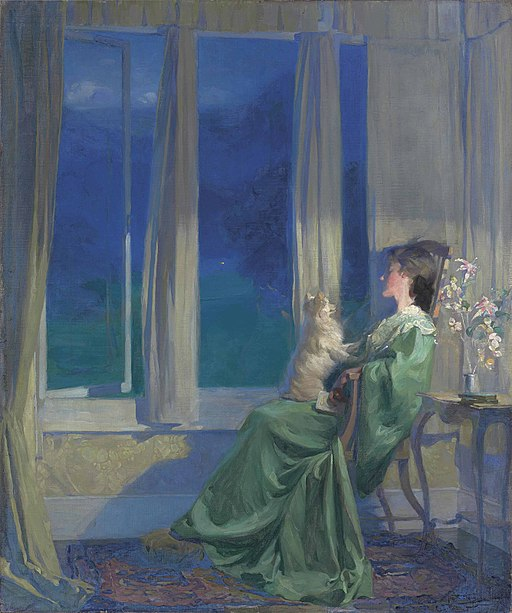 Frank_Bramley_-_When_the_blue_evening_slowly_falls