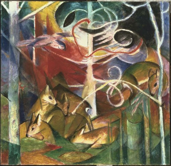 Franz_Marc_-_Deer_in_the_Forest_I_-_Google_Art_Project