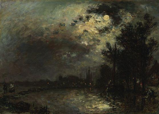 Johan_Barthold_Jongkind_-_View_on_Overschie_in_Moonlight_-_Google_Art_Project