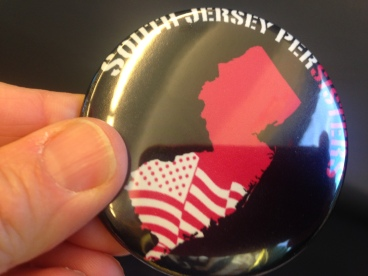 A woman handed out these pins on our Patco train.