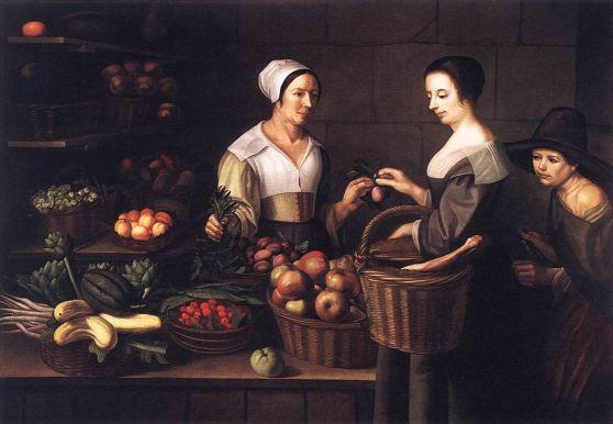 1024px-Louise_Moillon_-_Market_Scene_with_a_Pick-pocket_-_WGA16072