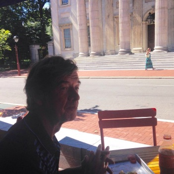 Lunch outside the Museum of the American Revolution, facing the First Bank of the U.S.