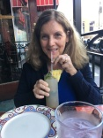 Enjoying a pineapple mojito at Cuba Libre