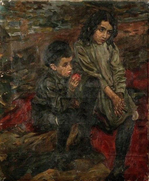 Моисей_Слепян_Этюд_детей_беженцев_1915-16_гг.