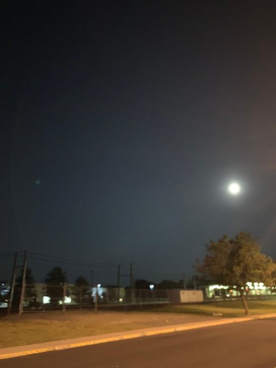 Full Moon over Woodcrest Station