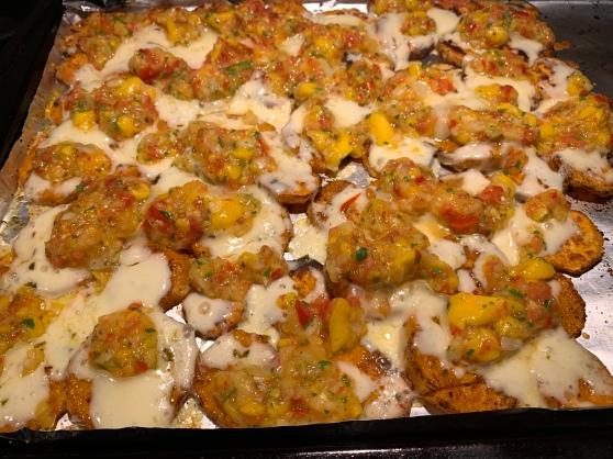 Sweet Potato Nachos with Mango Salsa