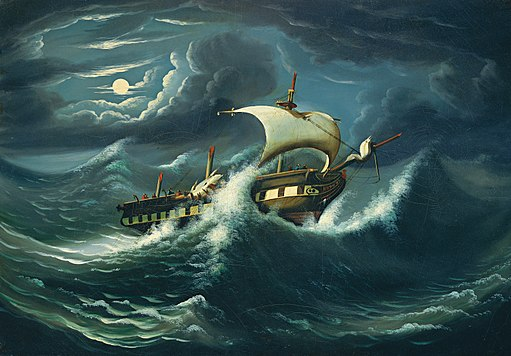 512px-Thomas_Chambers_-_Storm-Tossed_Frigate