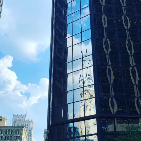 Merril D. Smith, 2019, Philadelphia, William Penn and City Hall Reflected