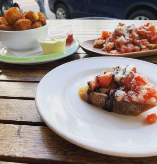 Revolution House, Bruschetta and house-made Tater Tots