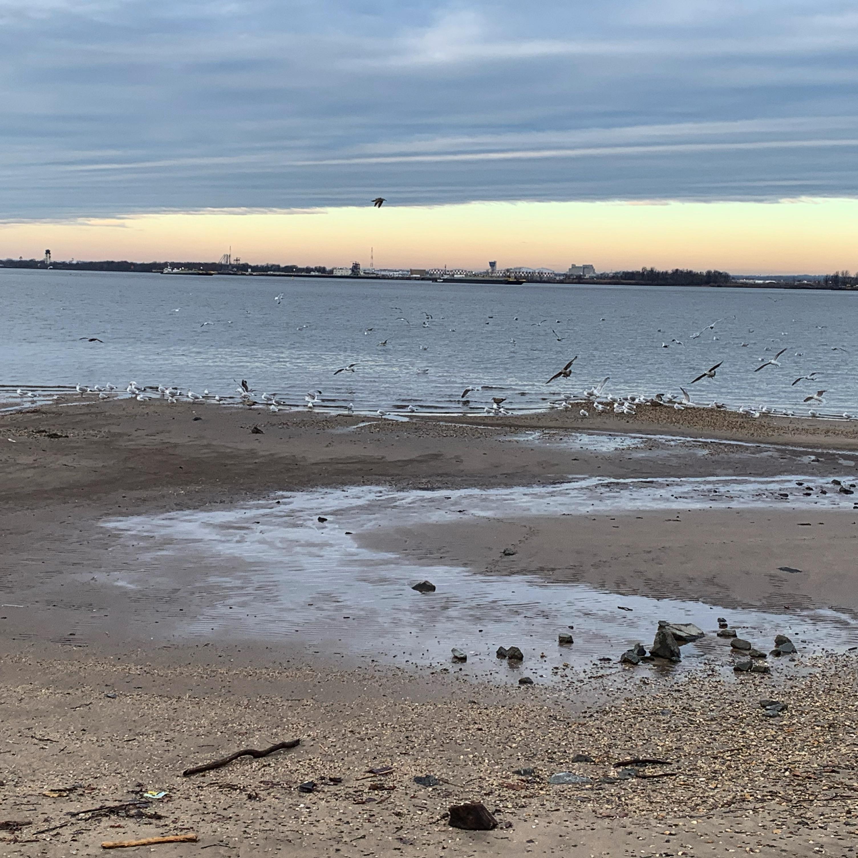 Sunrise on Delaware River