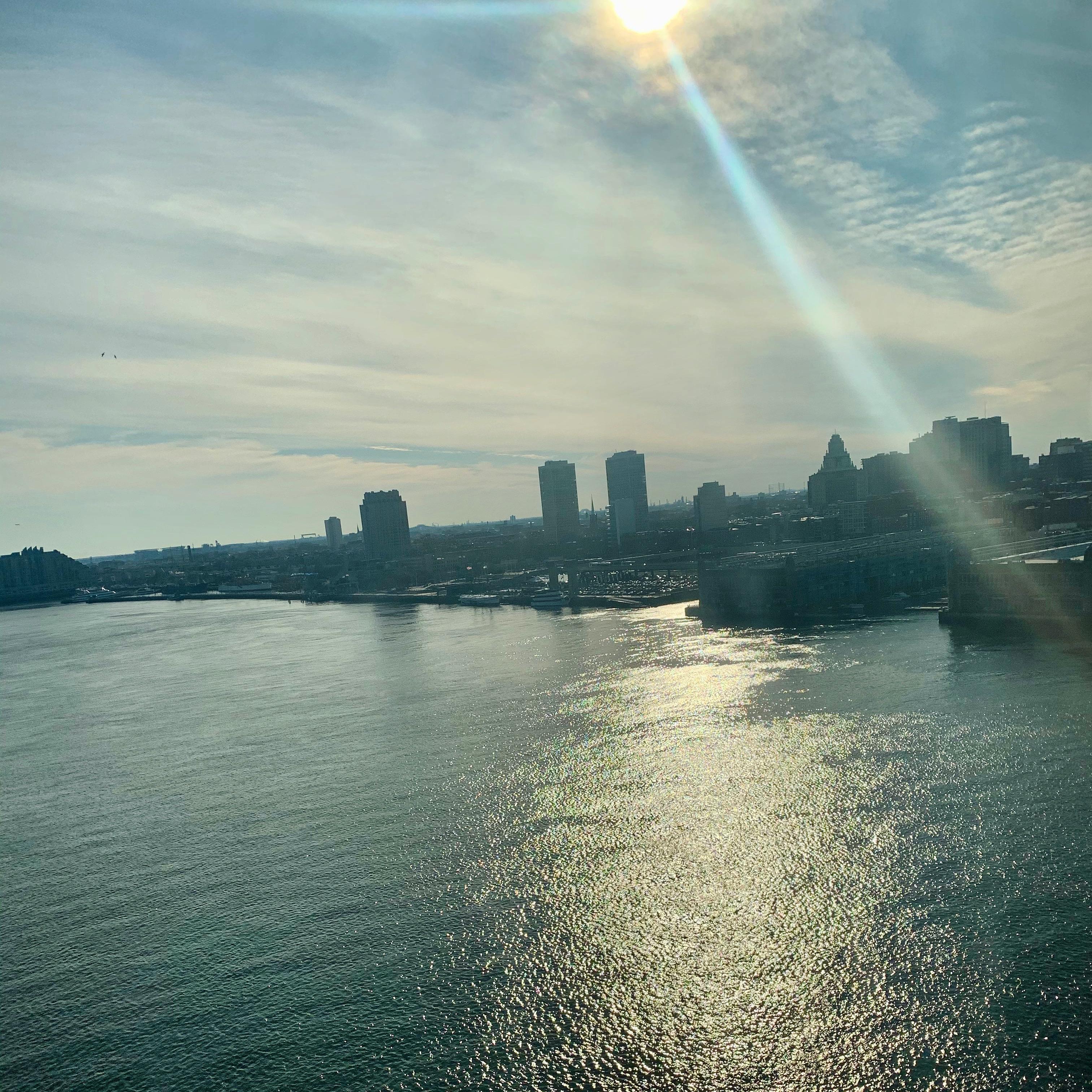 Philadelphia from Patco train, February 2020