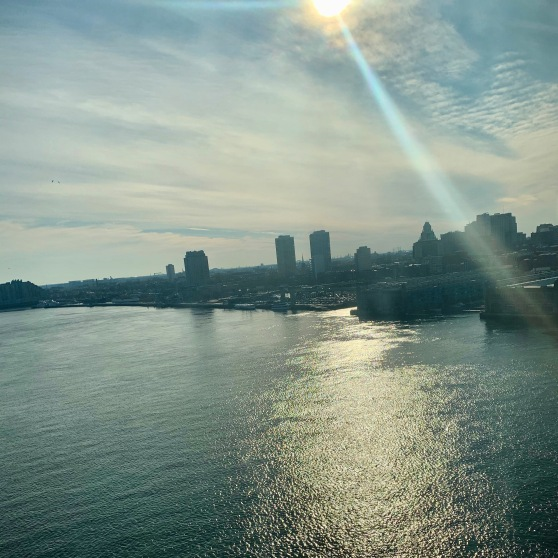Philadelphia from Patco train, February 2020