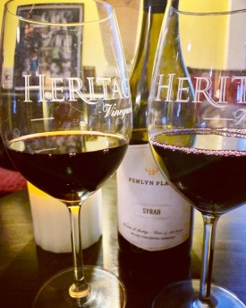 #OpenLocalWine William Heritage Winery, Penlyn Place Syrah And homemade pizza