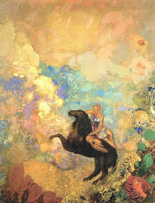 512px-Odilon_Redon_-_The_Muse_on_Pegasus_-_Gunma_Museum_of_Modern_Art