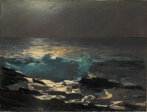 512px-Winslow_Homer_-_Moonlight,_Wood_Island_Light