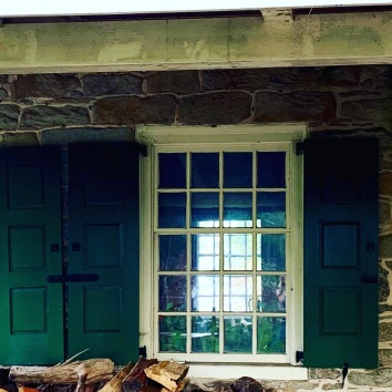 Reflections--windows to the past. Whitall House, Red Bank Battlefield